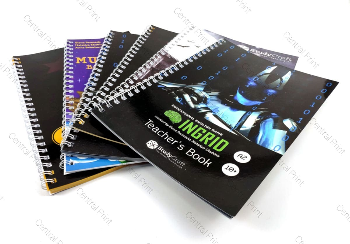 брошюры на пружине любого цвета