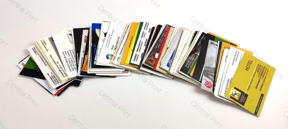 офсетная печать визиток на бумаге разной толщины