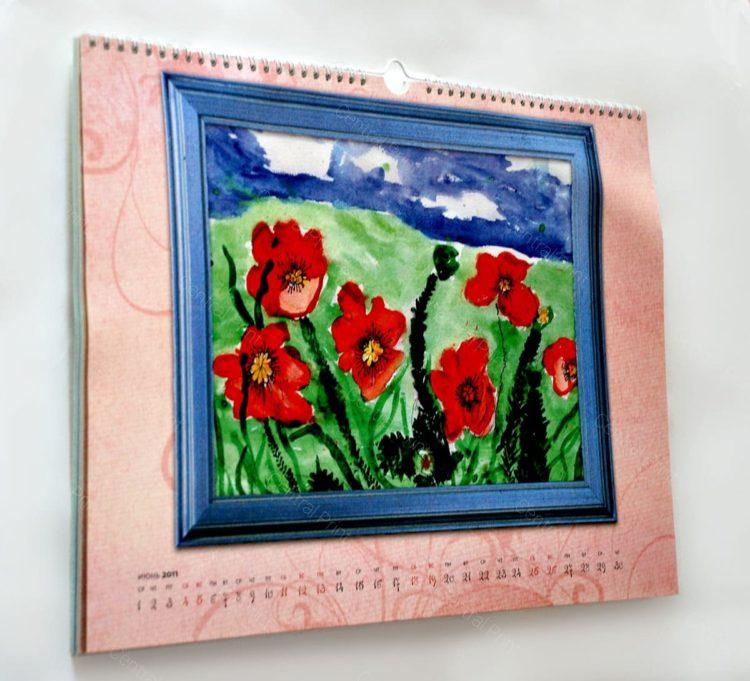 настенный календарь с картинами