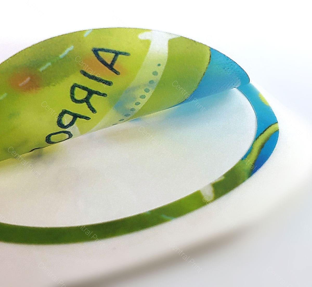 печать наклеек круглой формы на заказ