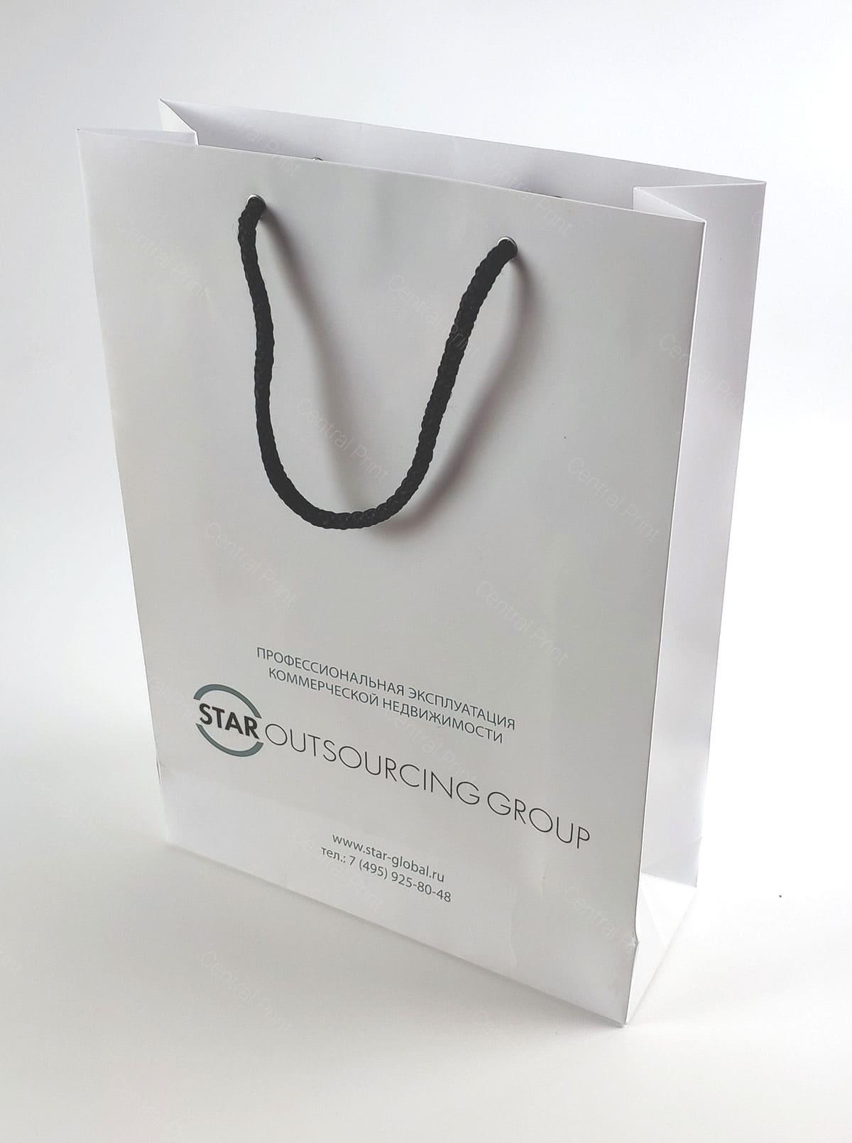 бумажный пакет в фирменном стиле