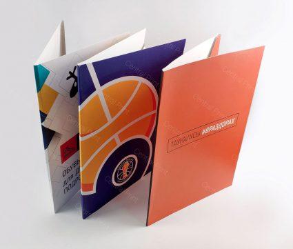 Изготовление папок с логотипами в Москве