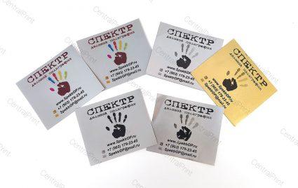 Металлические наклейки для брендирования и персонализации