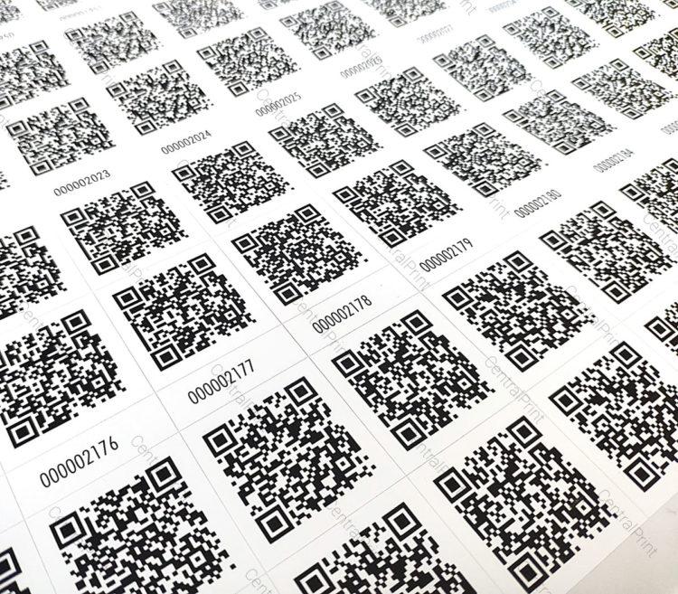 печать наклеек с qr-кодом