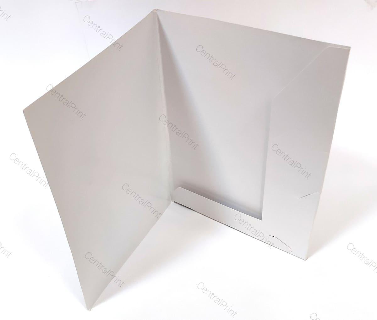 белая корпоративная папка