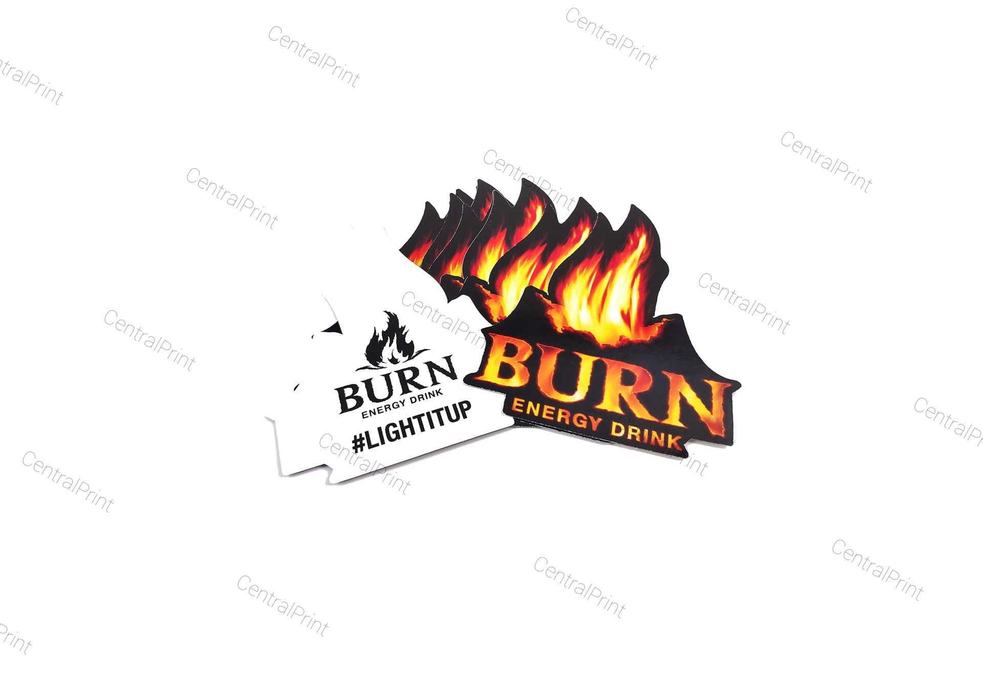фигурные наклейки в виде логотипа