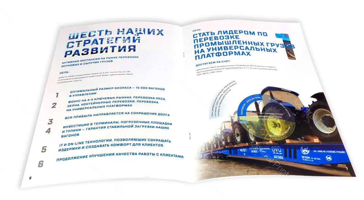 пример белой брошюры с картинками
