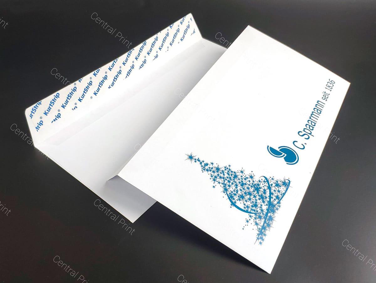 новогодние конверты с елочкой