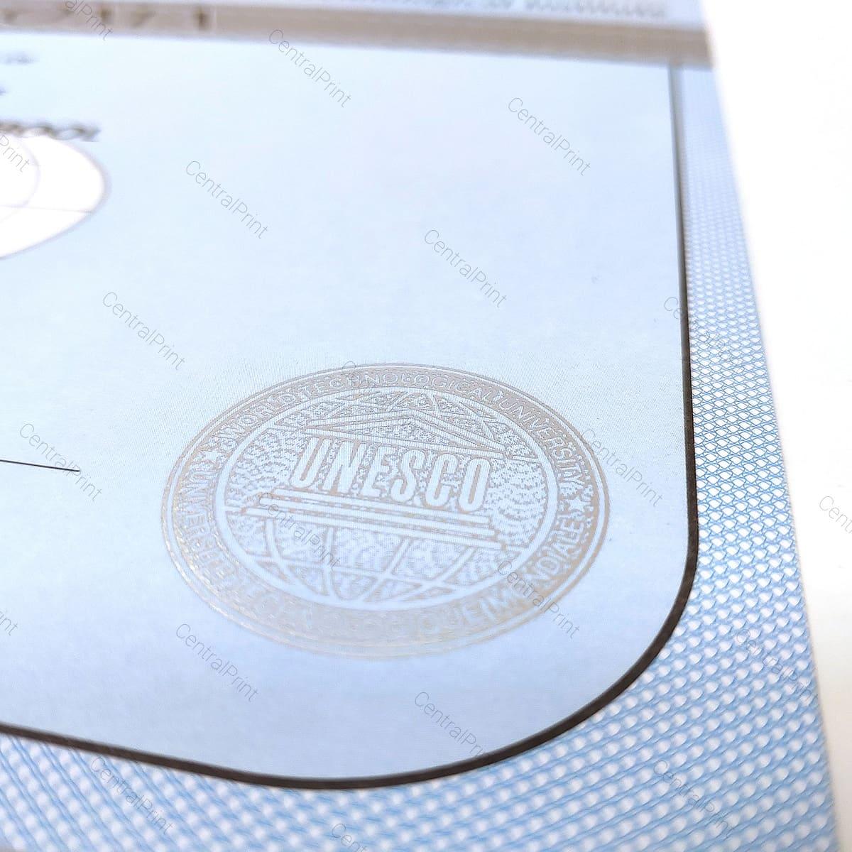 пример бланка в виде сертификата