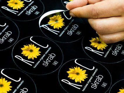 Печать наклеек круглых форм